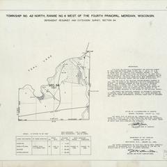 [Public Land Survey System map: Wisconsin Township 42 North, Range 06 West]