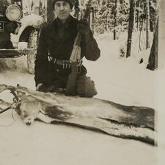 Man during hunting trip