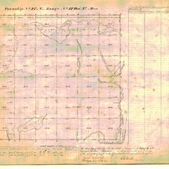 [Public Land Survey System map: Wisconsin Township 27 North, Range 12 West]