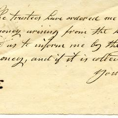 Note from J. Hedges to Felix Dominy