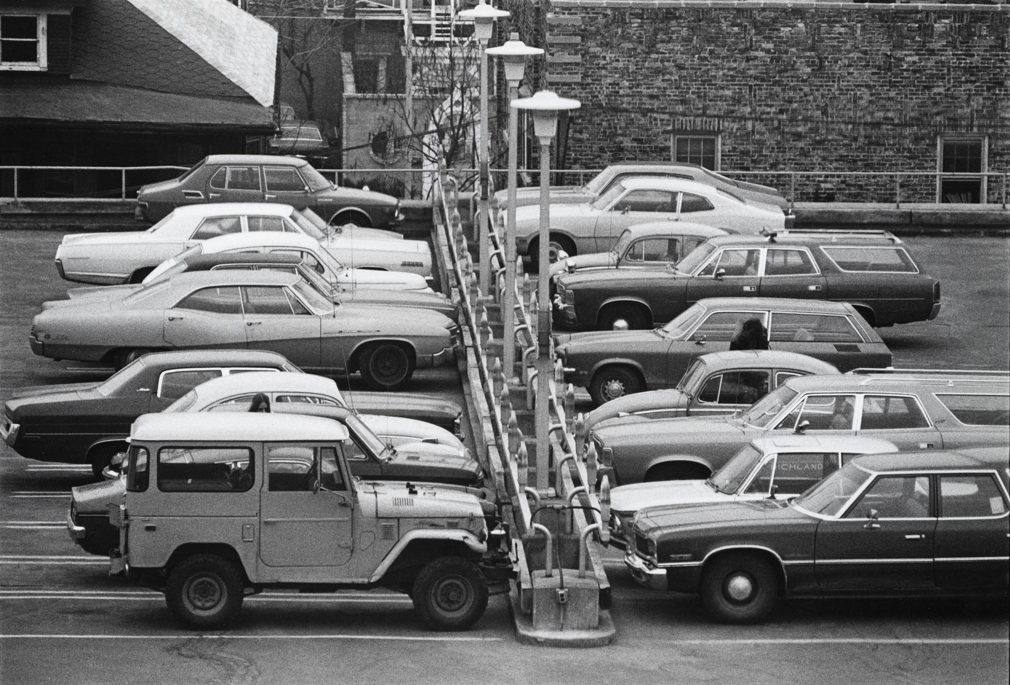 Cars parked on roof