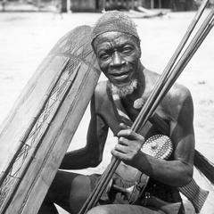 Mongo Elder (Bulukutu) Posed for Colonial Press