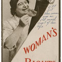 Woman's rights, suffrage postcard