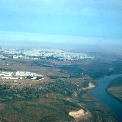 Aerial View Showing Roa Regreg River Dividing City of Rabat