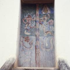 Door to Buddhist temple