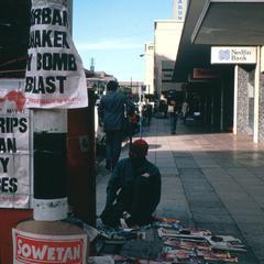 Newspaper Seller in Downtown Johannesburg