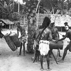 Ngombe Drummers Posed for Congopresse Photo