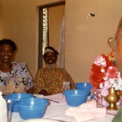 Dinner party with the vice-chancellor of Obafemi Awolowo University and others