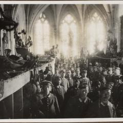Quartier in der Kirche in Chaumonte bei Verdun. Vor den schweren Kämpfen um Flery