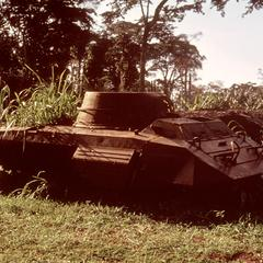 Abandoned Tank, a Remnant of the Civil Wars After Independence in 1960