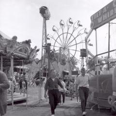 Midway rides at the State Fair