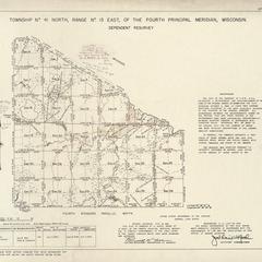 [Public Land Survey System map: Wisconsin Township 41 North, Range 13 East]