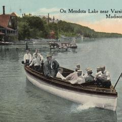 Lake Mendota near Varsity Boat House postcard