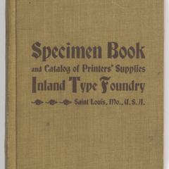 Specimen book and catalog