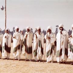 Ethiopian Orthodox Priests at Festival of Timket