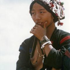An Akha woman in the village of Sobloi in Houa Khong Province