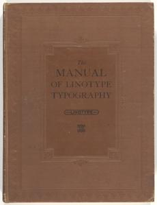 The manual of linotype typography