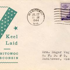 """Cachet envelopes for U.S.S. """"Mero"""""""