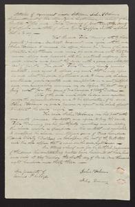 Agreement and contract between John P. Osborn and Felix Dominy, 1833