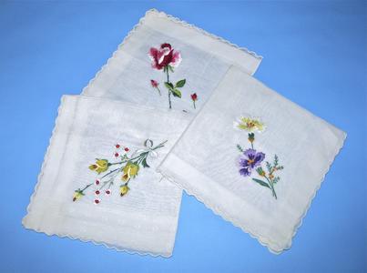 Three handkerchiefs