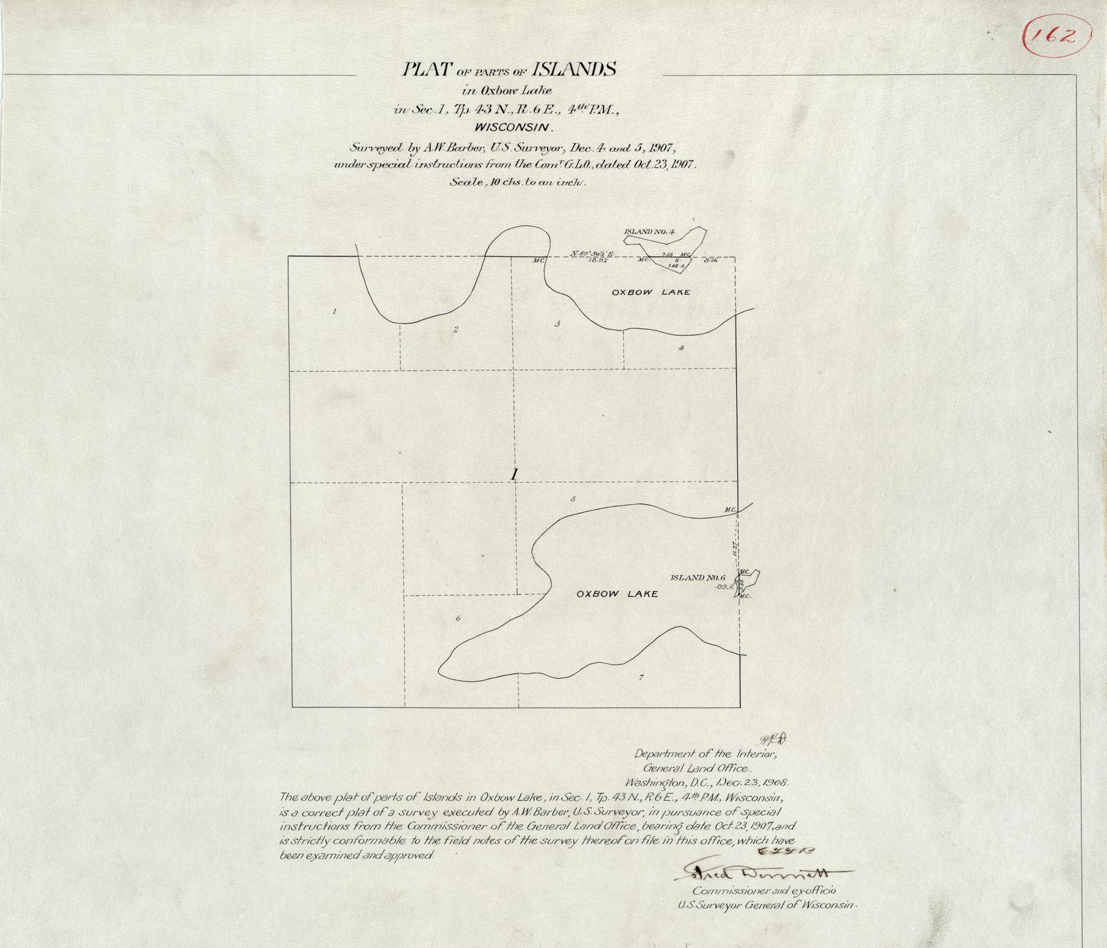 [Public Land Survey System map: Wisconsin Township 43 North, Range 06 East]