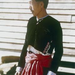 Blue Hmong (Hmong Njua) man in Houa Khong Province