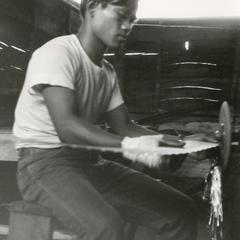 Manager of the Houei Kong cooperative sawmill in Attapu Province