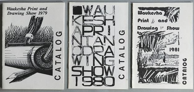Waukesha National Print and Drawing Show catalogs, 1979-1981