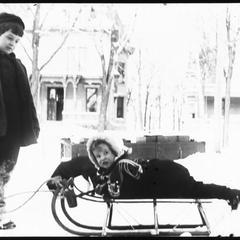 Harold and Thomas on sled