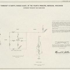 [Public Land Survey System map: Wisconsin Township 41 North, Range 05 East]