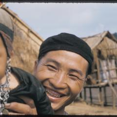 Hmong (Meo) father and baby