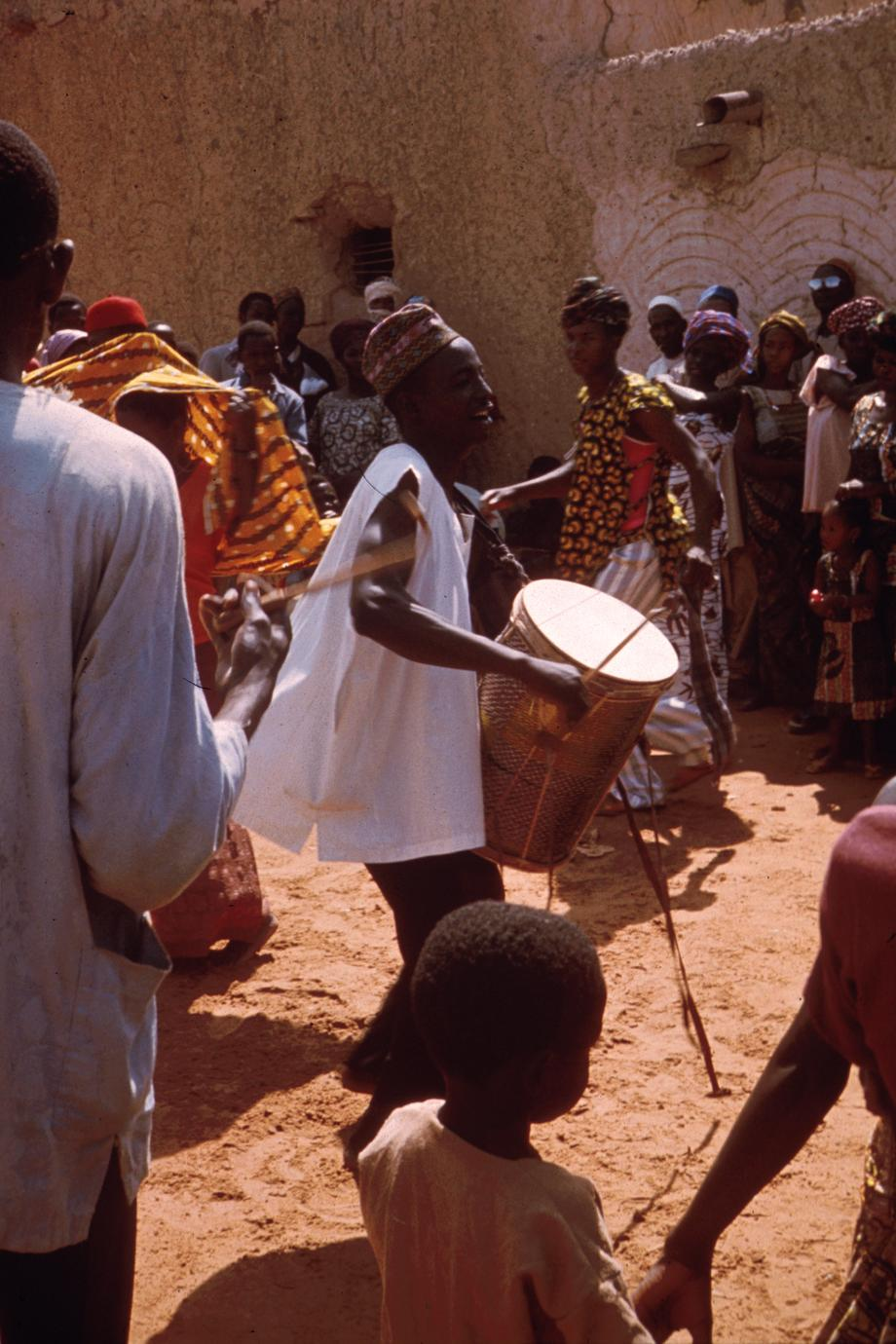 A Zarma Drummer in Mirria, Niger