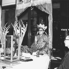 Fangyankou 放焰口 ceremony performed by monks at night.
