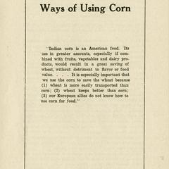 Ways of using corn