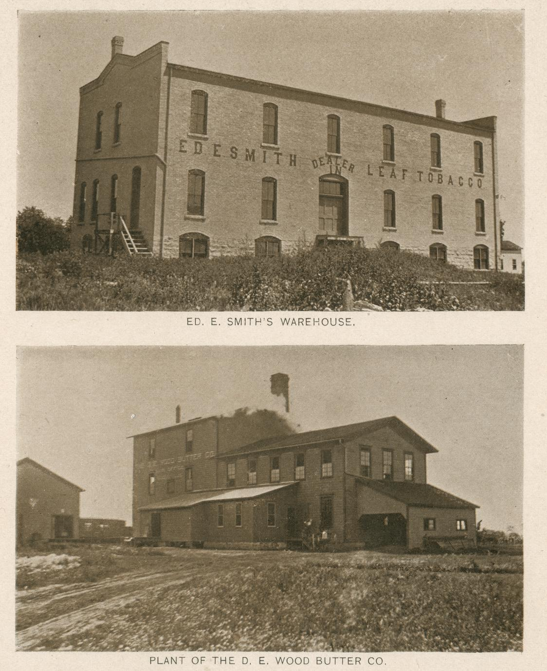 Tobacco warehouse and creamery, Evansville, Wisconsin