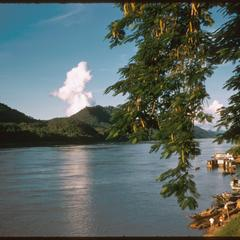 View from Luang Prabang port across the Mekong