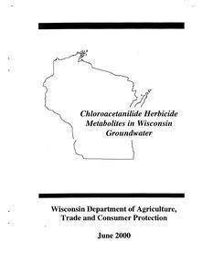 Chloroacetanilide herbicide metabolites in Wisconsin groundwater
