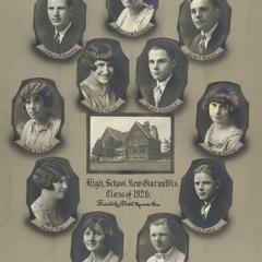 1926 New Glarus High School graduating class