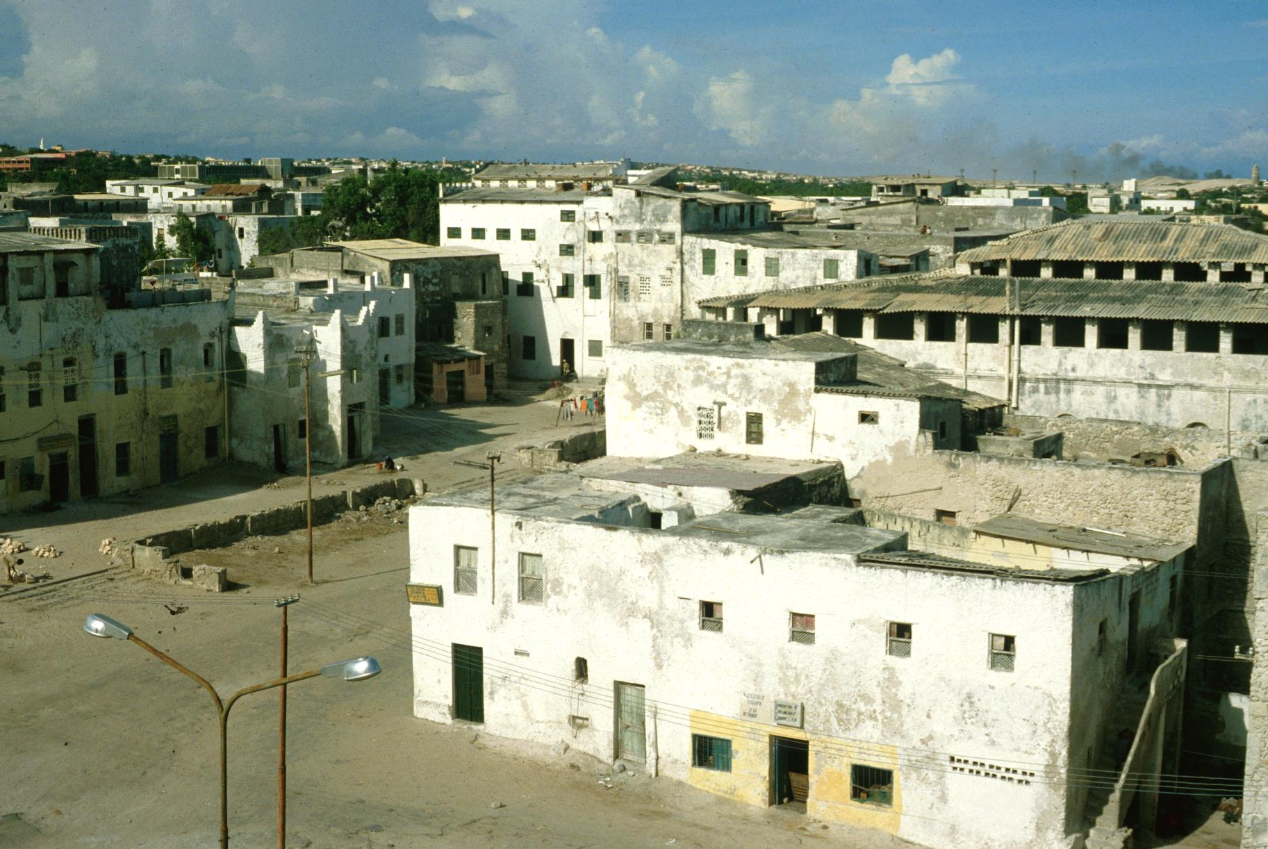 Deteriorating Old Town Section in Mogadishu