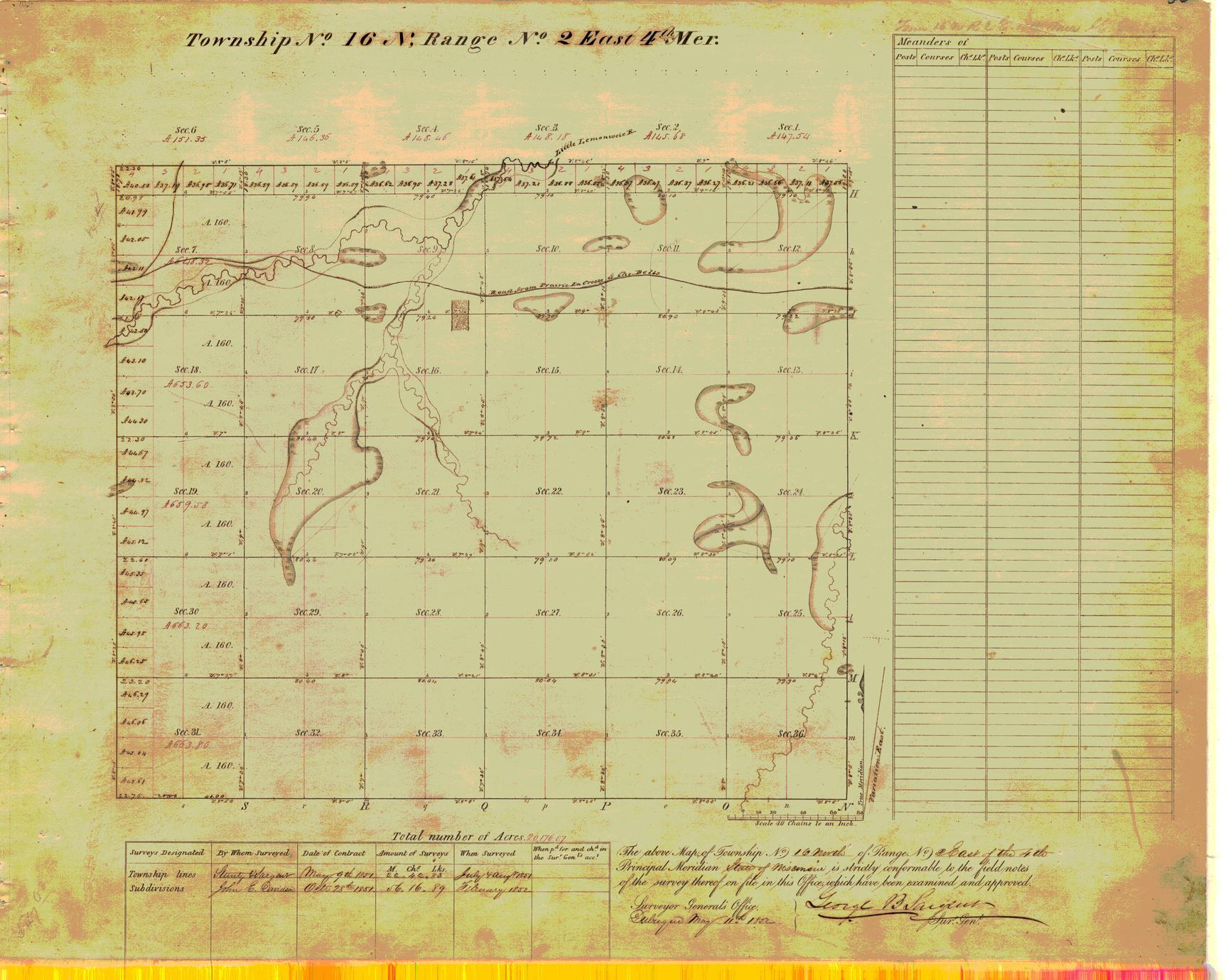 [Public Land Survey System map: Wisconsin Township 16 North, Range 02 East]