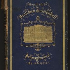Geschichte der Deutschen Gesellschaft von Pennsylvanien