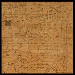Hudson Township plat map, 1857