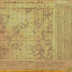[Public Land Survey System map: Wisconsin Township 40 North, Range 15 West]