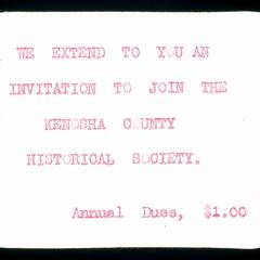 Invitation to Historical Society meetings