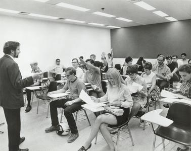 Class session in Greenquist Hall