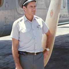 Robert Wofford beside a Caribou