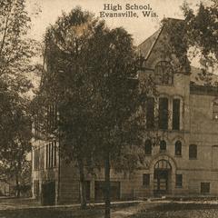 Evansville high school, Evansville, Wisconsin