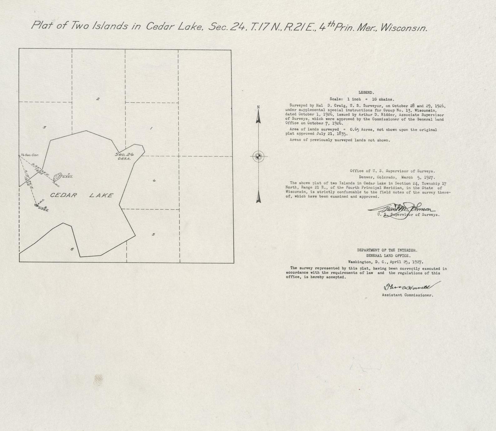[Public Land Survey System map: Wisconsin Township 17 North, Range 21 East]