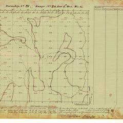 [Public Land Survey System map: Wisconsin Township 25 North, Range 24 East]