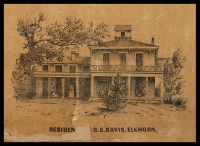 Residen [Residence of] B. B. Davis, Elkhorn
